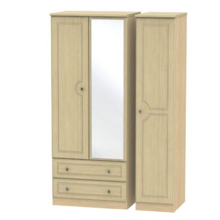 Pembroke Tall Triple 2 Drawer Mirror Robe